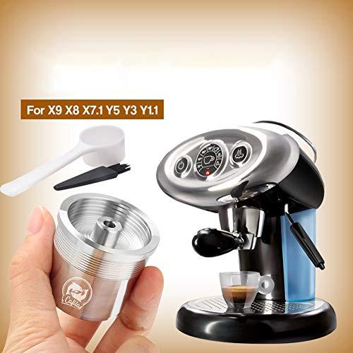 xMxDESiZ Edelstahl wiederverwendbar wiederverwendbare Kapuzen-Cup-Filter f¨¹r Illy Coffee...