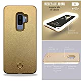 Exclusive-ID - LED Handyhülle - Selfie Case - Cover mit Licht - Gold - Samsung S9 Plus