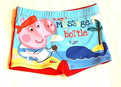 Kostüm Pig George - Peppa Schwein (Peppa Pig) George Schwimmen Kostüm / Swim Short. (6 Jahre (116 cm), Rot)