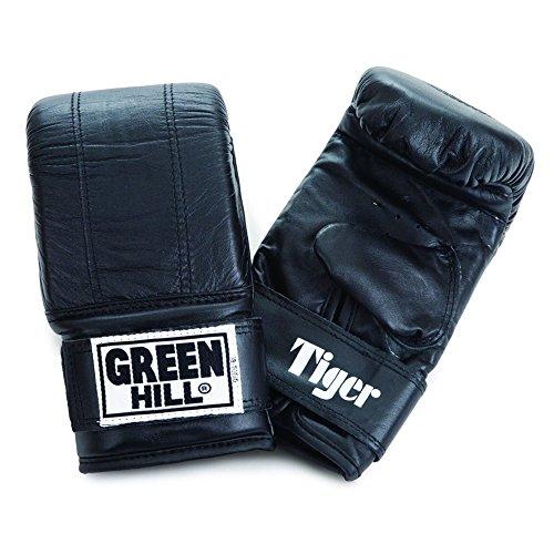 Green Hill Sandsackhandschuh TIGER / Leder / Farbauswahl (Schwarz, XL)