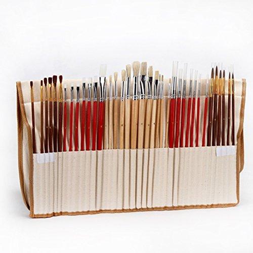 VORCOOL 38 Set di pennelli con supporto di tela arte capelli sintetici pennelli per pittura acrilica olio acquerello