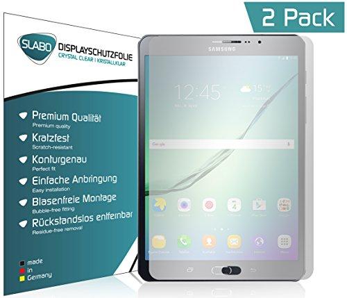 Slabo 2 x Pellicola Protettiva per Display per Samsung Galaxy Tab S2 (8') con Telefono SM-T719 Protezione Crystal Clear