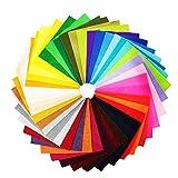 Soraco 42colori DIY Crafts poliestere morbido feltro tessuto non tessuto indurito feltro foglio per Craft lavoro artigianale SQUARES15x 15cm/15x 15cm, 1.5mm di spessore