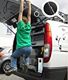Abanico Heckdeckel Arretierungsring für Heckdeckeldämpfer Fahrradträger VW Bus T4 T5 Viano V-Klasse Tourneo Transit Hyundai H1 (Edelstahl 2Stk 8mm)