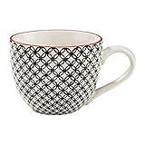 BUTLERS RETRO Tasse 550 ml gelb Henkelbecher für Kaffee und Tee – im Vintage-Look