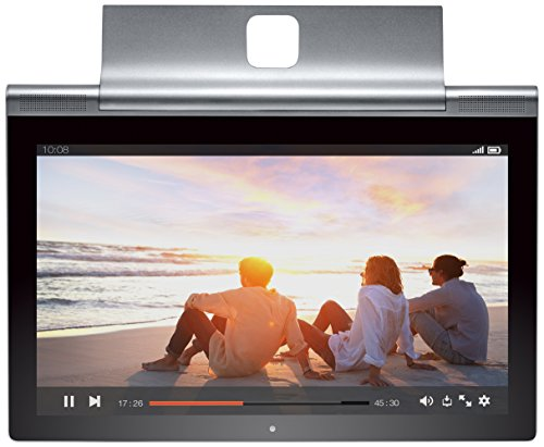 Lenovo Yoga Tablet 2 Pro 33 cm (13,3 Zoll Quad HD) Tablet-PC (Intel Atom Z3745, 2GB RAM, 32GB interner Speicher, 4G LTE, Android 4.4) platinum inkl. W-LAN, Pico Projector, JBL Speaker