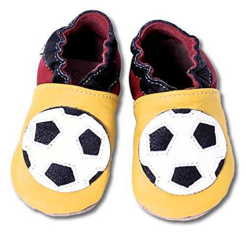 HOBEA-Germany Baby Krabbelschuhe Jungen, Modell Schuhe:Fußball, Schuhgröße:26/27 (30-36 Monate)