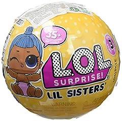 Idea Regalo - Giochi Preziosi - LOL Surprise LIL Sister Serie 3 Sfera con Mini Doll a Sorpresa, 5 Livelli, Modelli Assortiti, 1 Pezzo