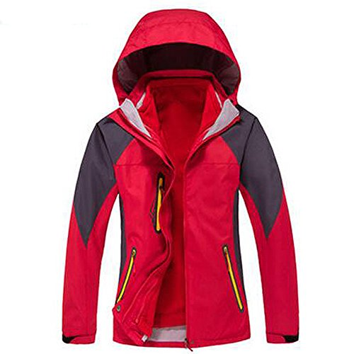 ELEAR® Uomini / Donne in pile sportivo outdoor impermeabile Windbreaker Jacket Athletic antivento Warm Arrampicata cappotto escursionismo Giacca esterna Donne rosse