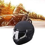 Motorradhelm,Klapphelm Integralhelm,Helm,|Schwarz|Vollgesichtshelm|56-62cm