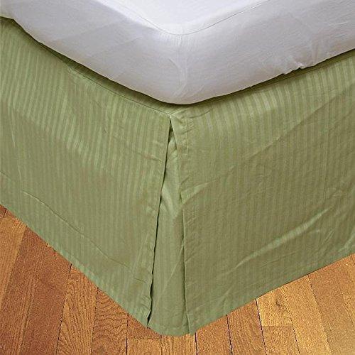 Ägyptische Baumwolle mit Fadendichte Vanillegelb 650, 1 Stück, 21 cm lang, Super-King-Betten aus UK, Salbei, 650tc 100% Baumwolle (21-zoll-king Bedskirt)