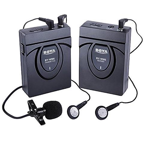 BOYA BY-WM24G sans fil 2,4 GHz Lavalier Microphone enregistreur audio pour appareil photo DSLR Canon Nikon Sony