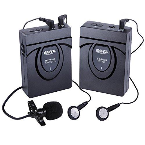 BOYA BY-WM24G 2.4GHZ Micrófono de solapa Profesional Inalámbrico sis