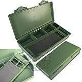 New NGT grün Karpfen- und Coarse Fishing Tackle Box System mit Haar Rig Board Innen