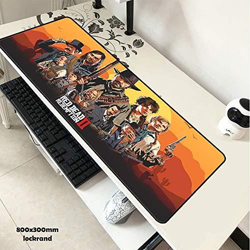 LJA Red Dead Redemption 2 Mauspad 80x30cm Pad zur Maus Günstigste Computer-Mousepad-Gaming-Mousepad-Gamer-Laptop HD-Druck-Mauspad