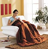 2 in 1 ZIPP Deckenkissen | Kissen und Decke | Verwandlungskissen | Besucherdecke | Bettdecke