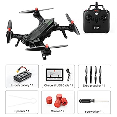 Ocamo Quadcopter MJX B6 Bugs6 RC Drone Brushless Moter Quadcopter Independent ESC Smart Transmitter Alarm High Capacity Battery Racing Drone by Ocamo