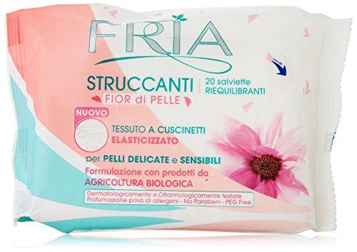Fria - Salviette Struccanti, per Pelli Delicate e Sensibili - 20 salviette