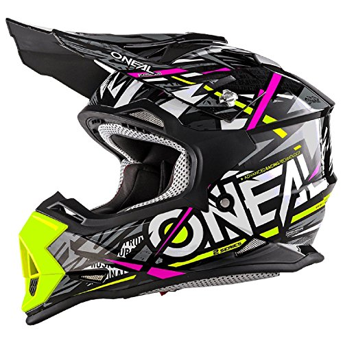 O'Neal 2Series Synthy Kinder Motocross MX Helm Youth Enduro Quad Cross Trail, 0200-8, Farbe Pink,...