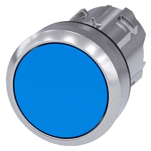 Siemens Sirius ATC - Poussoir métallique/A brillant bleu bouton rasante momentaneo