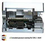 Tinker Board Alloggiamento in alluminio con raffreddamento passivo integrato CPU + RAM senza ventola necessaria Tinkerboard PC x86 Case