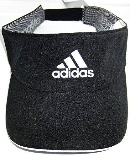 Adidas Schwarz Folien (Adidas Climalite Visor Cap schwarz verstellbar Klettverschluss)