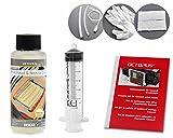 100 ml Düsenreiniger, Druckkopfreiniger für Canon Pixma Druckköpfe mit Schlauchadaptern (100 ml)