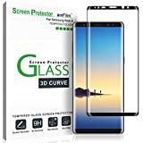 amFilm Galaxy Note 8 Screen Protector Glass, Full Cover (3D