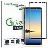 amFilm Galaxy Note 8 Pellicola Protettiva, Copertura Totale Vetro Temperato Protezione Schermo per Samsung Galaxy Note 8 (Nero)