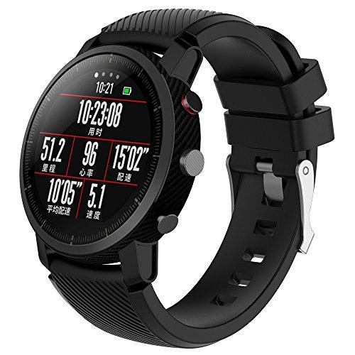 LANSKIRT Suave Silicagel Correa de Reloj Deportivo Recambio Brazalete Extensibles Pulsera para HUAMI Amazfit Stratos Smart Watch 2