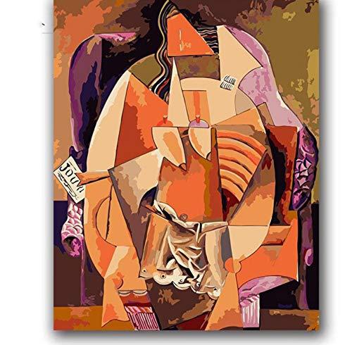 akeansa Diamant Malerei Kit 5D Picasso Abstrakte Musik Malerei Öl DIY Bild 30x40cm -
