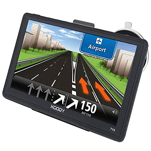 Xgody 7 Zoll Auto GPS Navigation Kapazitiver Touchscreen LKW Satelliten-Navigator System mit kostenloser lebenslanger EU Kartenaktualisierung Geschwindigkeitsbegrenzung Anzeige rotes Licht Warnung