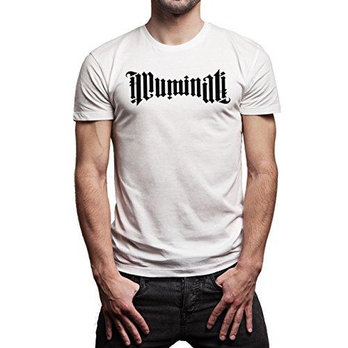 Illuminati Triangle Art Majestic Signature Known Layer 1 Herren T-Shirt Weiß