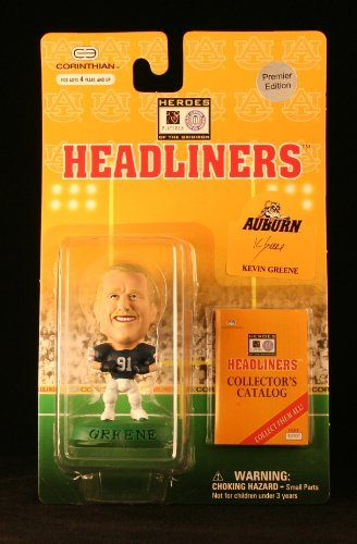 Kevin Greene/Auburn University Tigers * 3 Inch * 1996 NFL Heroes of the Gridiron * Premier Edition * Headliners Football Collector Figure by Headliners University Tigers