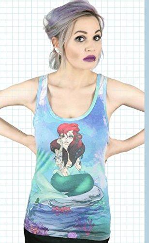 Cosmic UNDER THE SEA Tattooed Mermaid Tank Top Shirt Rockabilly Mehrfarbig mit Motiv