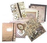 Whimsy Designs - Kit per scrapbooking con decorazioni, washi tape e sagome marrone