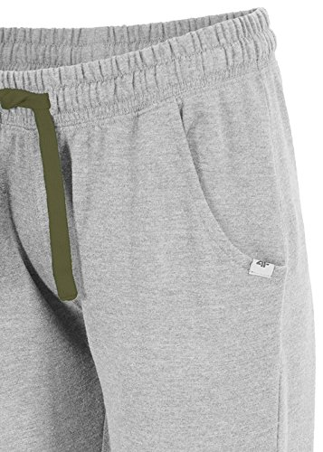 Pantalon de survêtement pour femme 4F spdd001knöchenlang Sport Pantalon avec poches | Fitness pour entraînement Loisirs Gym | Loisirs Pantalon Training Pantalon Pantalon Femme (,) (,) gris clair