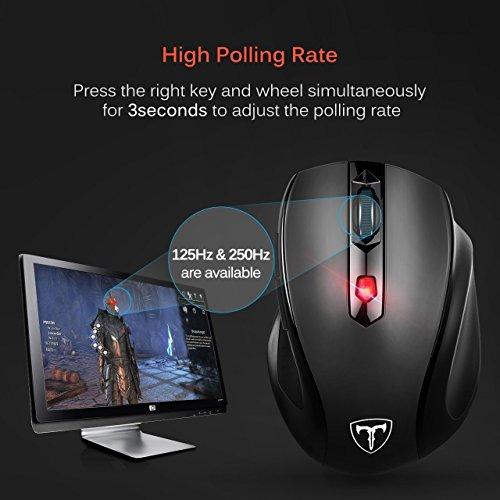 941457c277fcb4 VicTsing Mouse Wireless 2400DPI, Mouse Senza Fili 2.4G con ...