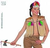 Widmann 4286I - Kinderkostümset Indianer, Weste, Kopfschmuck und Zubehör -