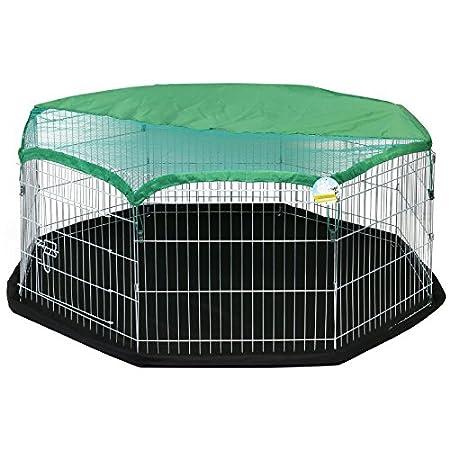 Me und My Pets Mittelgroßes Spielgehege mit Bodenmatte und Sonnenschutzdach