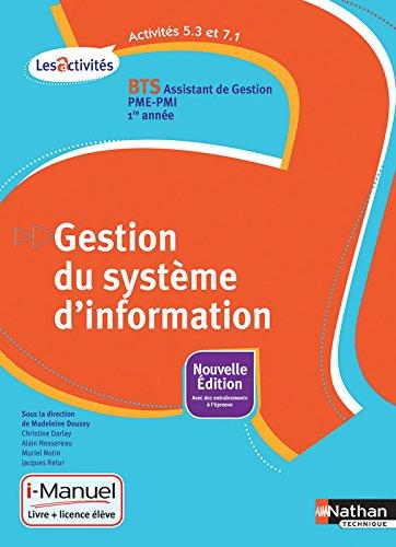 Activits 5.3 et 7.1 - Gestion du systme d'information