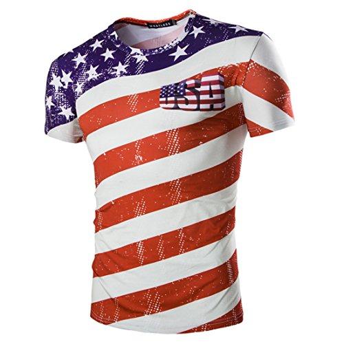Hombres Mujeres 2018 Football Rusia Copa Mundial Camiseta Simple Impreso  Soccer Fans tee America XXL 12703b9122466