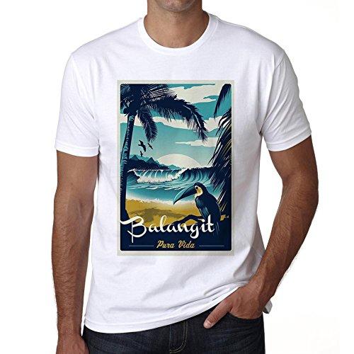 Balangit, Pura Vida, Beach Name, maglietta uomo, maglietta spiaggia uomo, maglietta estate Bianco
