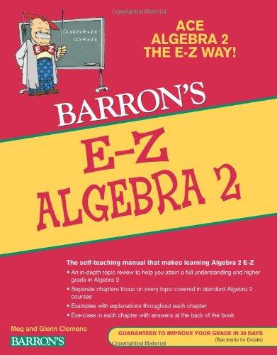 E-Z Algebra 2 (Barron's E-Z) (E-Z Series)