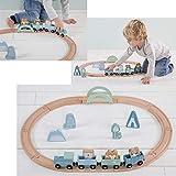 Little Dutch Holzeisenbahn mit Schienen - Adventure Blue 4423