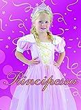 Blumen Paolo 61343.3-4-Prinzessin Kostüm Mädchen, Pink, 3-4Jahre
