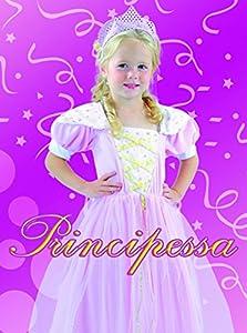 FIORI PAOLO 61343.3-4-Princesa Disfraz Niña, Rosa, 3-4años