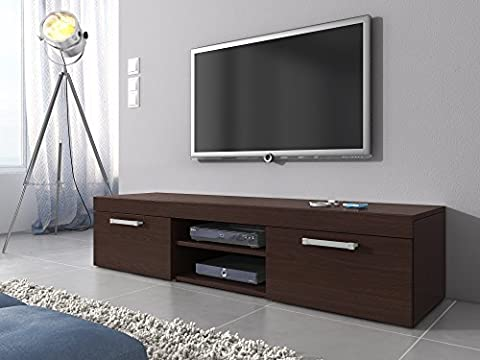 TV Unit Cabinet Stand Mambo Dark Oak Wood Wenge 160 (37 Legno Porta Tv)