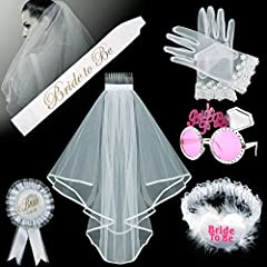 Idea Regalo - Foonii Sposa di Essere Bride to be Satin Sash Giarrettiera  Spilla Rosette e 6ff070248aa4