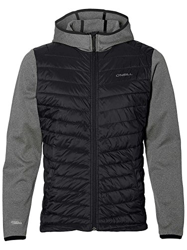 O'Neill Herren Kapuzenjacke Transit Hybrid Fleece Zip Hoodie Shirts & Fleece Black Out, M